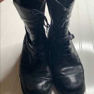 NAOT Black Leather Lace Up Boots - Sz 40/ 10